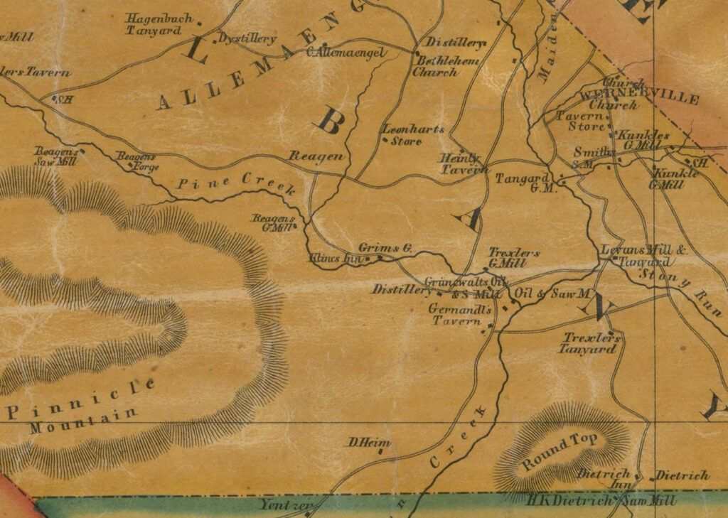 Albanty Township Map Detail 1854