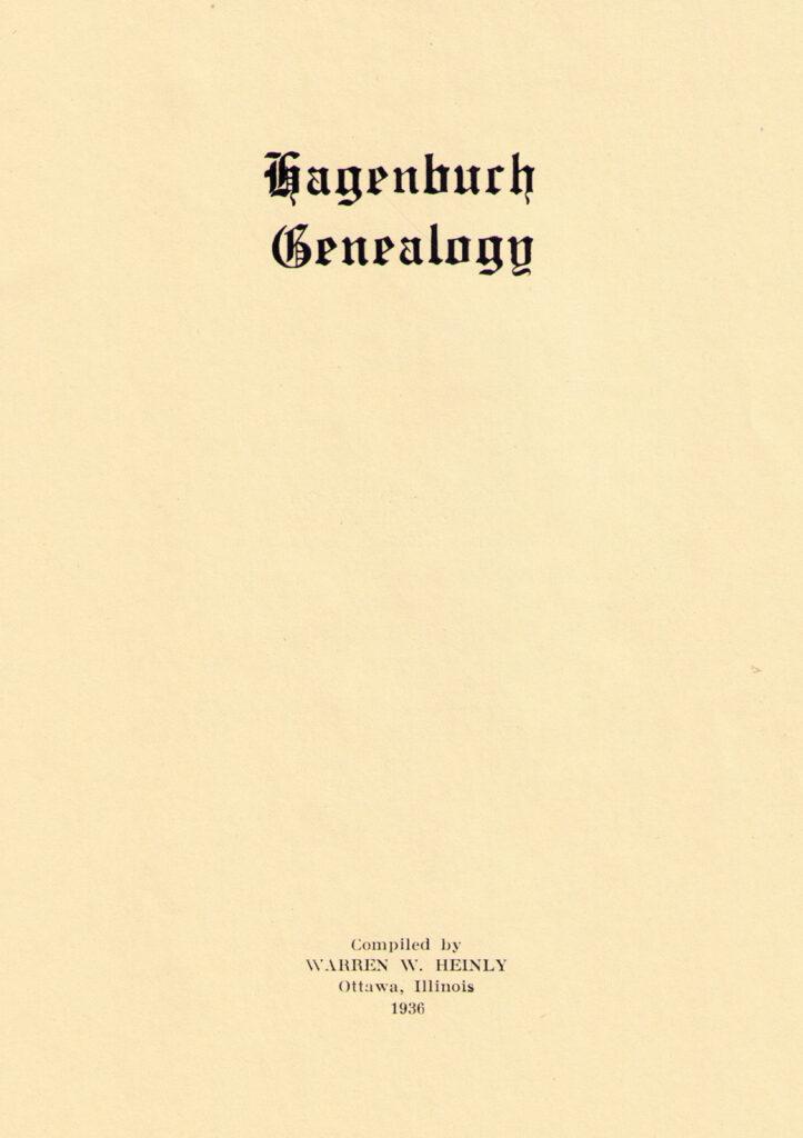 Hagenbuch History Warren Heinly