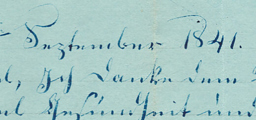 Timothy and Enoch Hagenbuch Letter Detail 1841