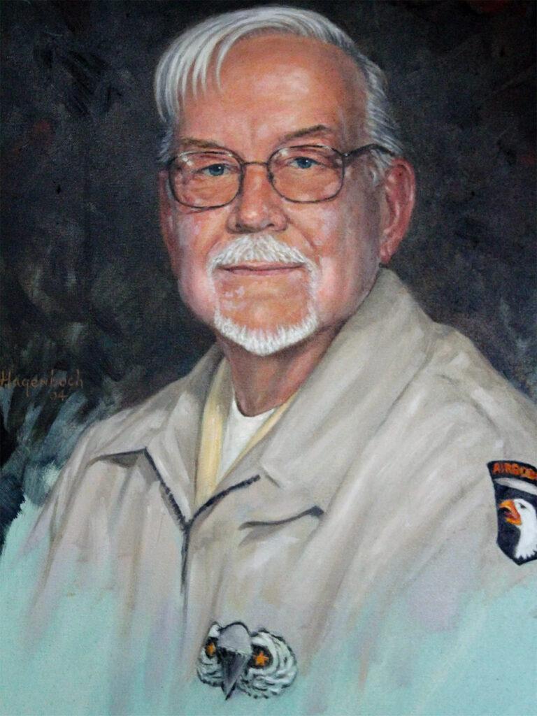Donald Burgett Painting by Joseph Hagenbuch 2004