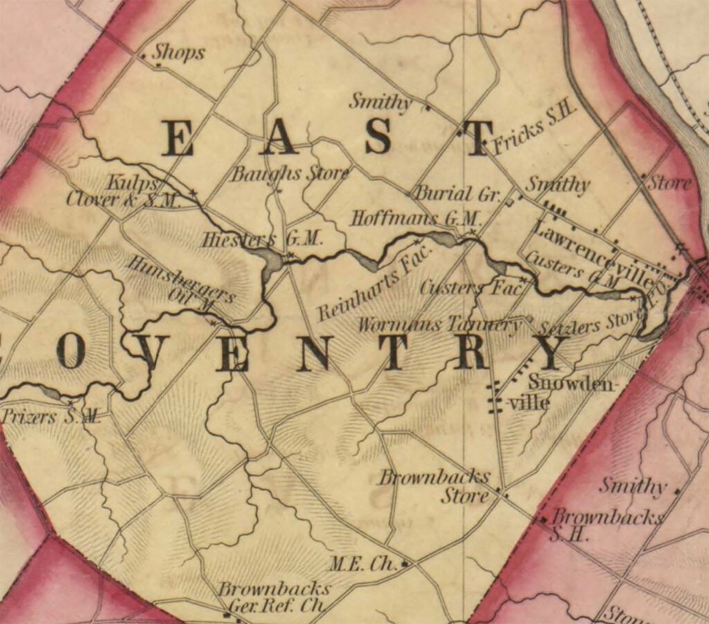 East Coventry Township, Chester County, 1847