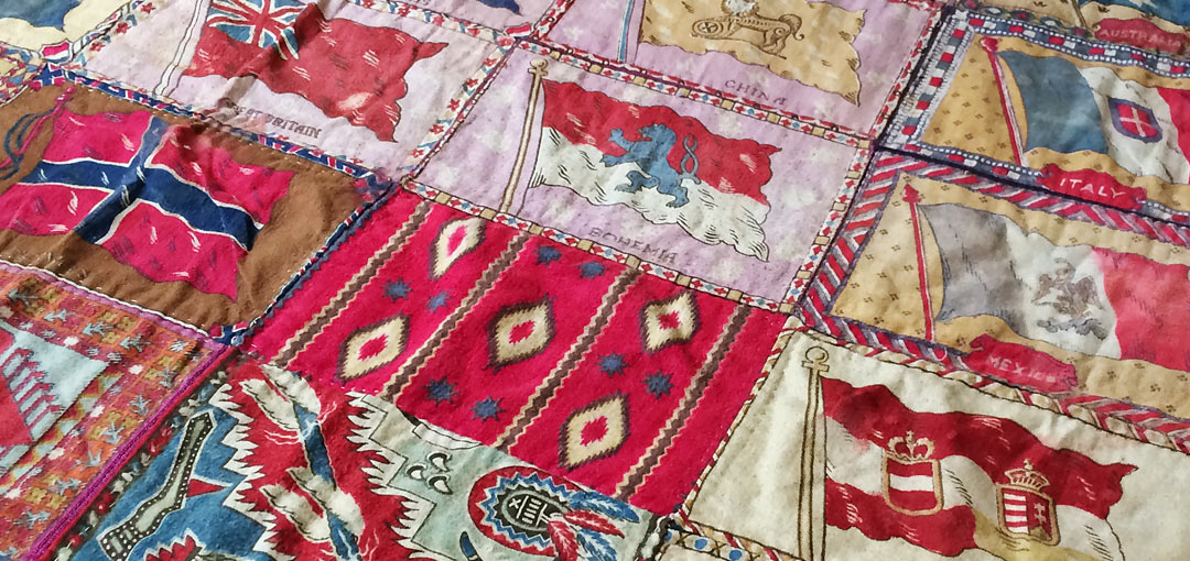 Flag Silks Quilt Detail