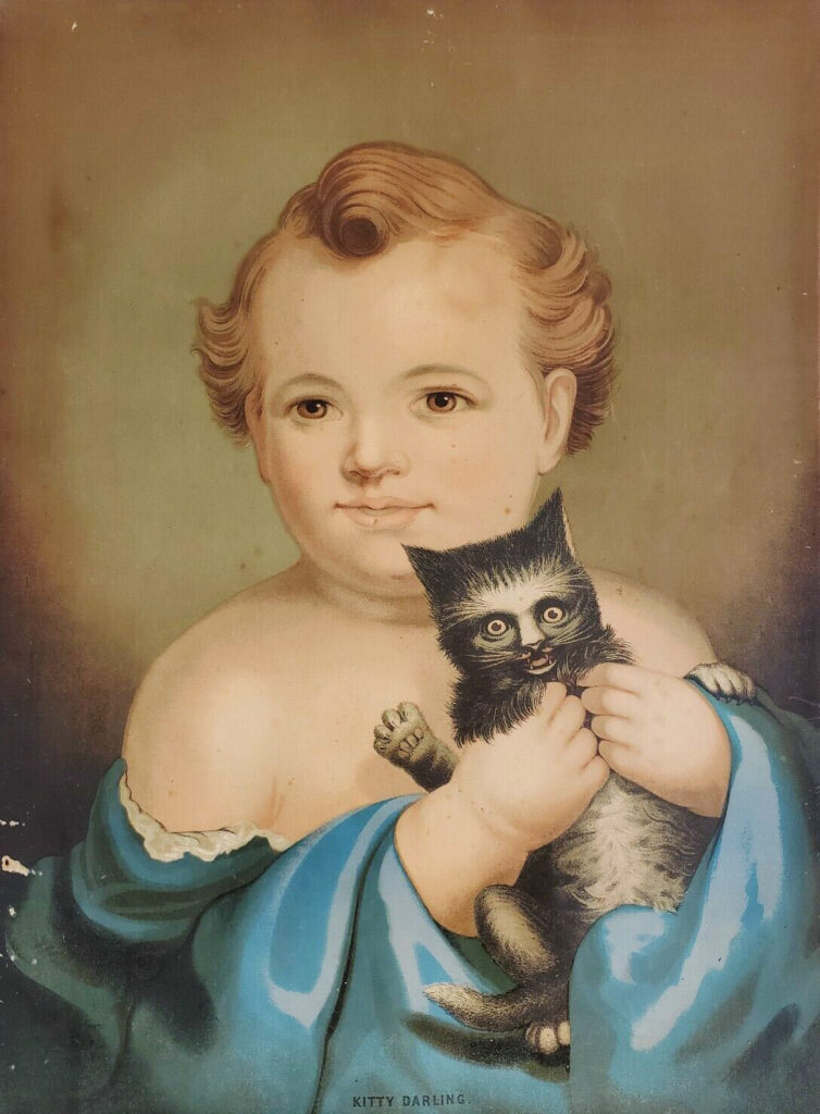 Kitty Darling Chromolithograph