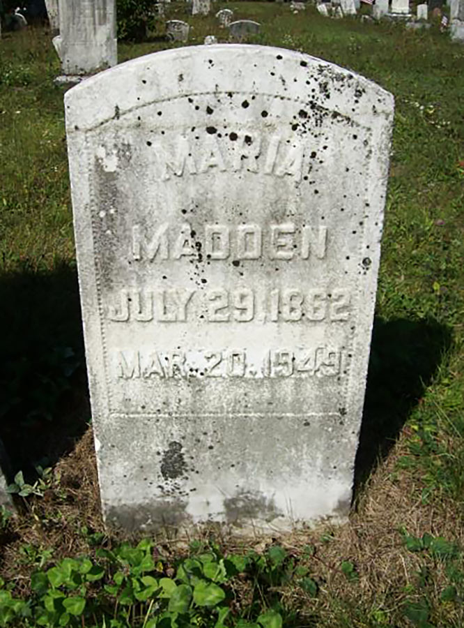 Mariah Madden Gravestone