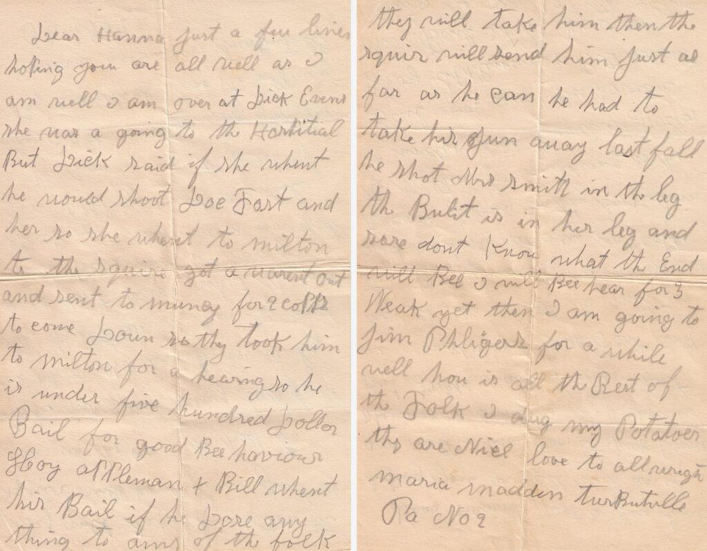 Mariah Madden Letter