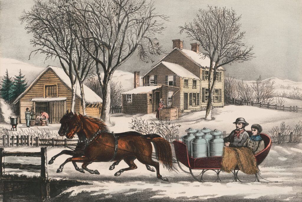 Winter Morning Country Currier and Ives