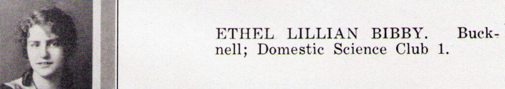 Ethel Lillian Bibby 1926