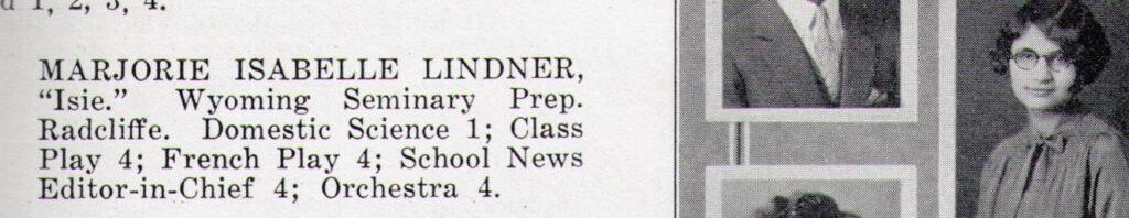 Marjorie Isabelle Lindner 1926