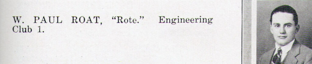W. Paul Roat 1926
