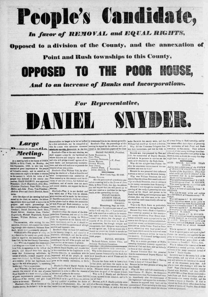 The Columbia Democrat 1839