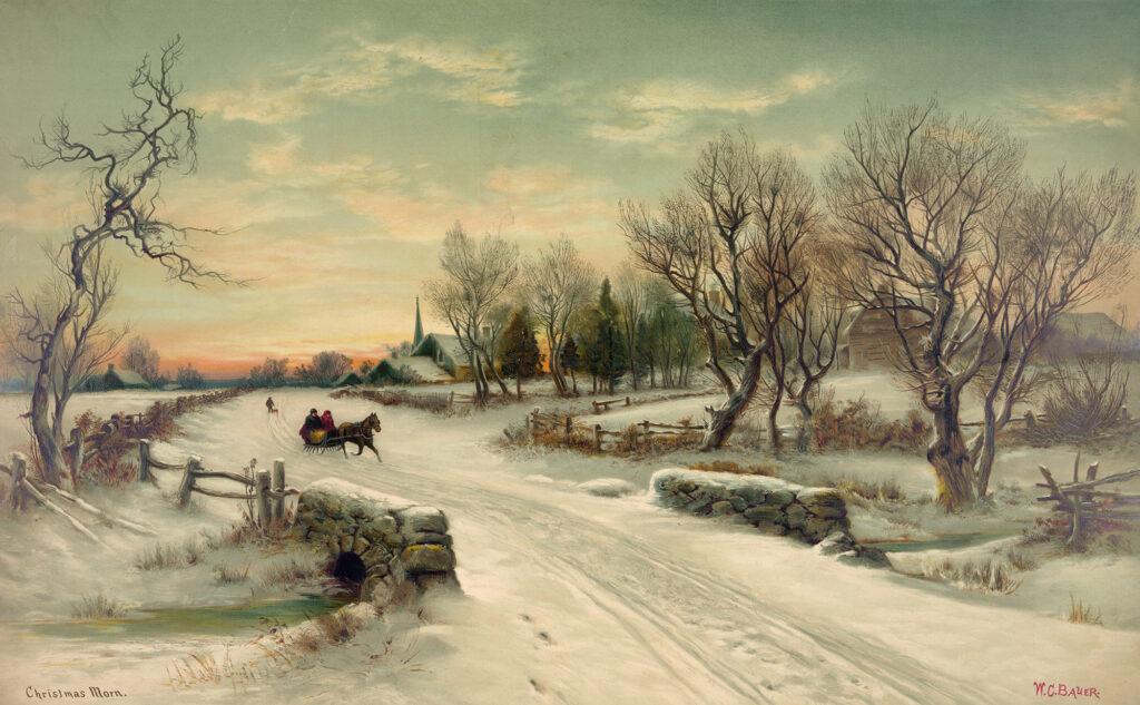 Christmas Morn, Lithograph, 1880, Raphael Tuck & Sons