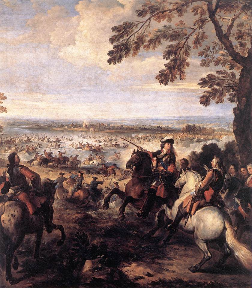 King Louis of France crossing the Rhine in 1688