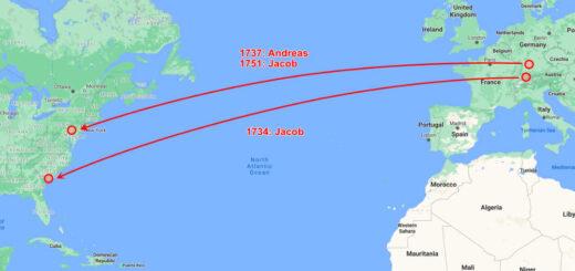 Hagenbuch Family Transatlantic Migrations Detail