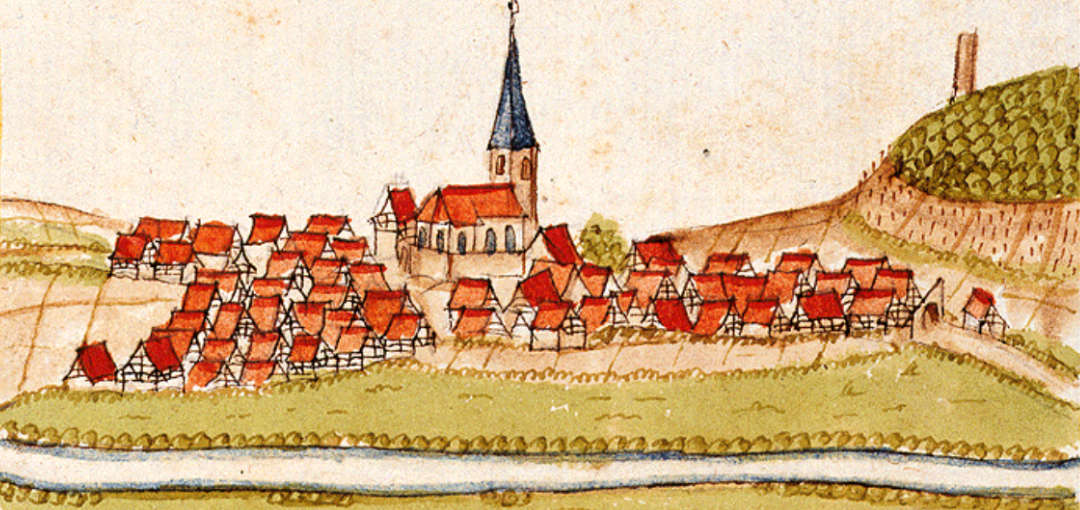 Grossgartach, Germany Illustration