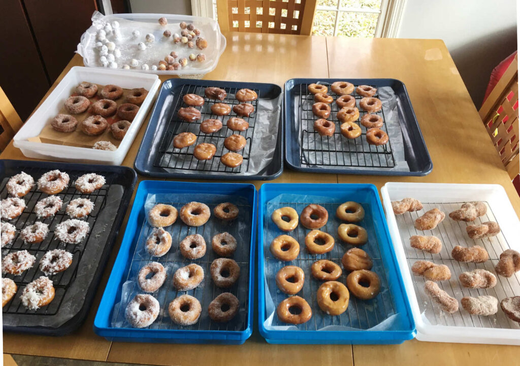 Finished Doughnuts or Fastnachts