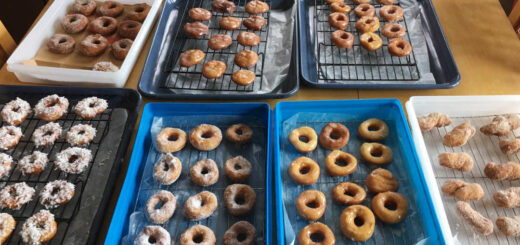 Finished Doughnuts or Fastnachts Detail