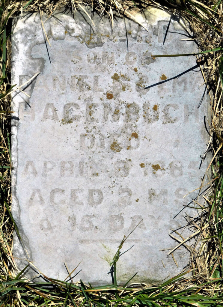Edward Hagenbuch Gravestone 1885