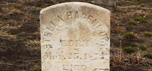 Estella Hagenbuck Gravestone 1885