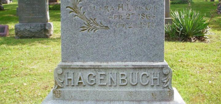 Jacob B. Hagenbuch Gravestone Detail