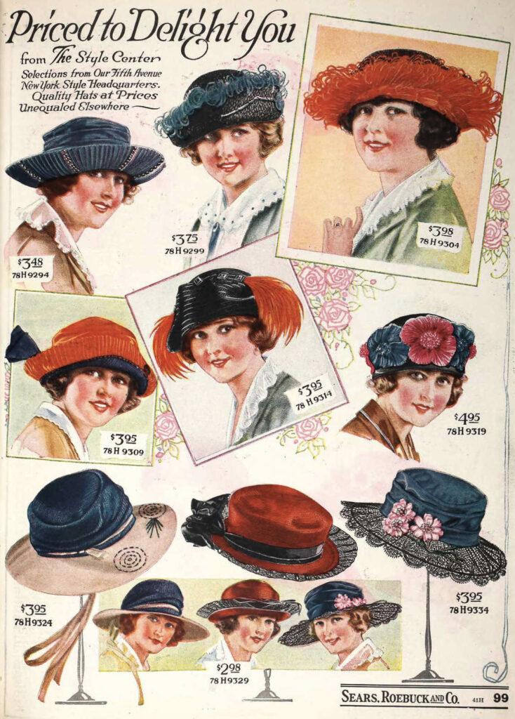 Sears Women's Hats 1922