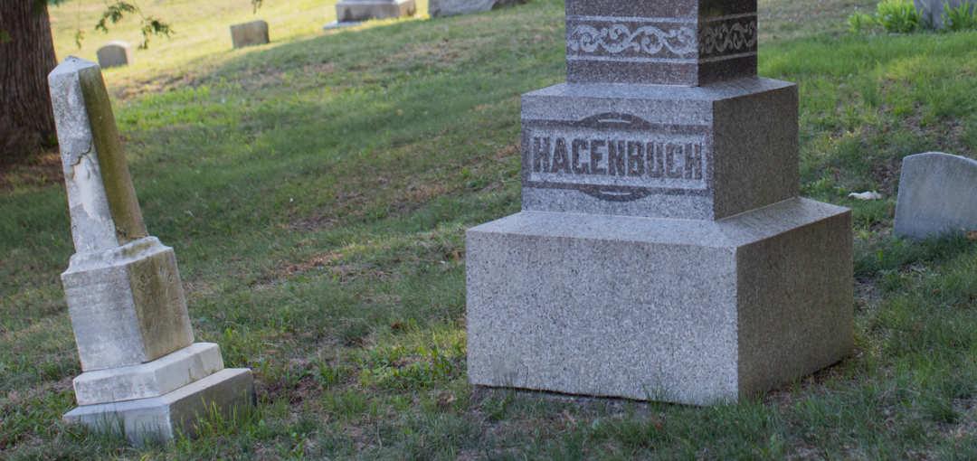St. John's Cemetery Hagenbuch Stone Detail