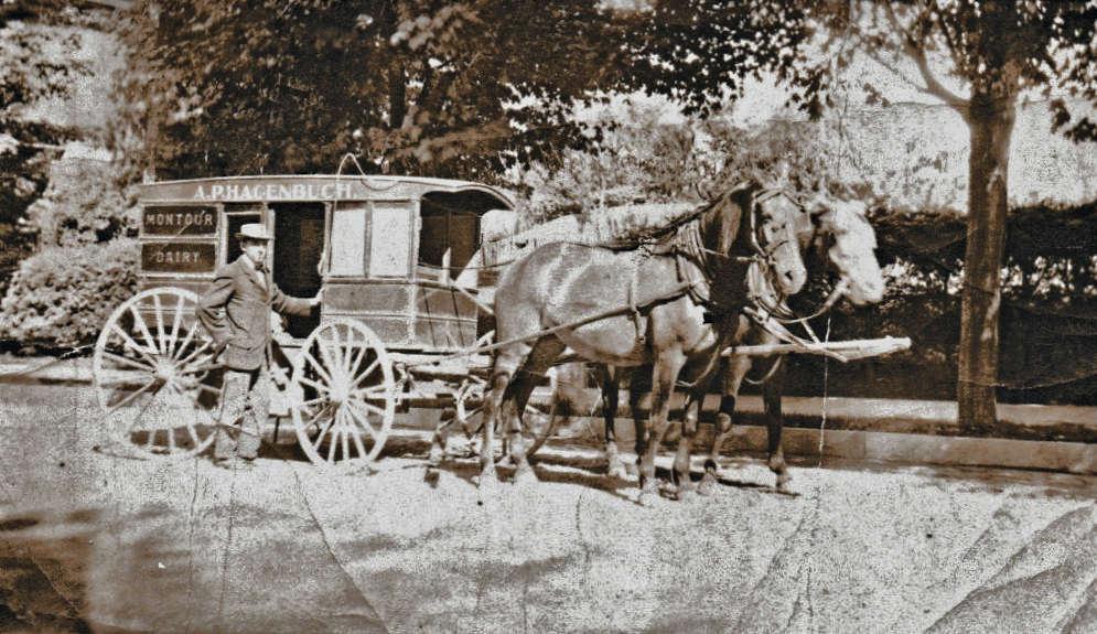 A. Pierce Hagenbuch Montour Dairy wagon