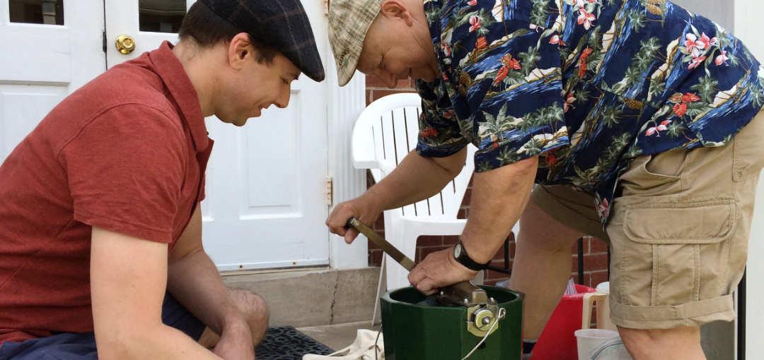 Mark & Andrew Hagenbuch Making Ice Cream