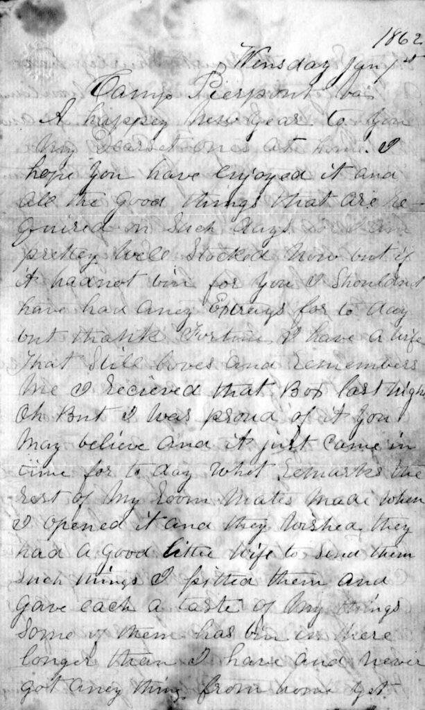 Benjamin Hagenbuch Letter 1862 Page 1