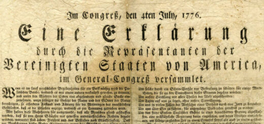 Declaration of Independence in German Detail