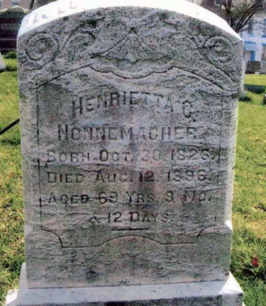Henrietta (Hagenbuch) Nonnemacher Gravestone
