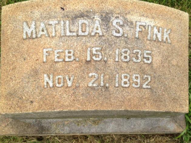Matilda (Hagenbuch) Fink Gravestone