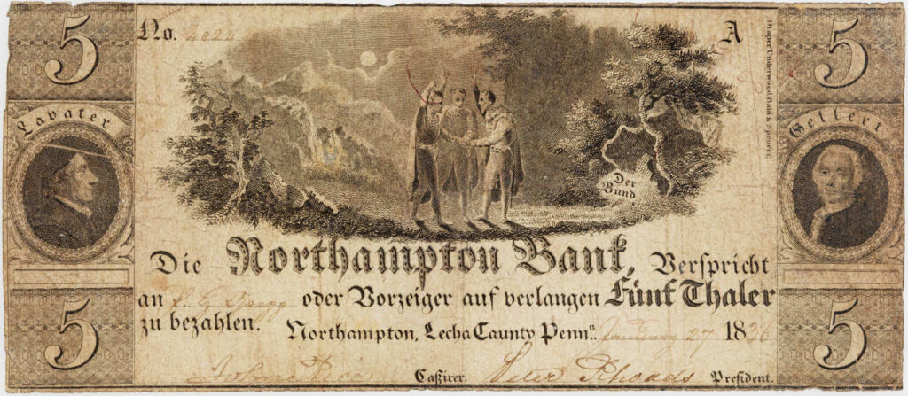 Northampton Bank 1836 Banknote