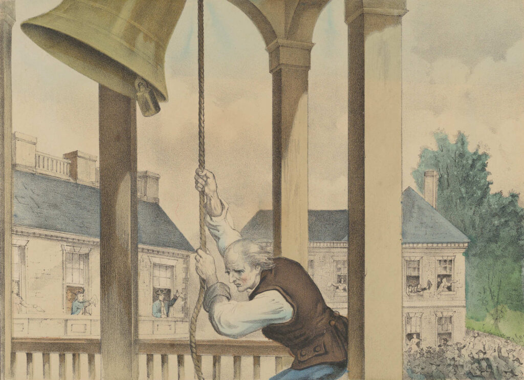 Ringing The Liberty Bell 1776