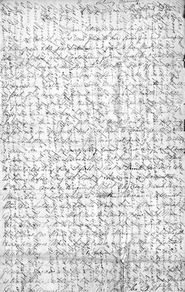 Benjamin Hagenbuch Letter February 25, 1865 Page 1
