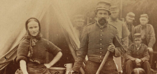 Woman and Soldiers, Union Army, 1862