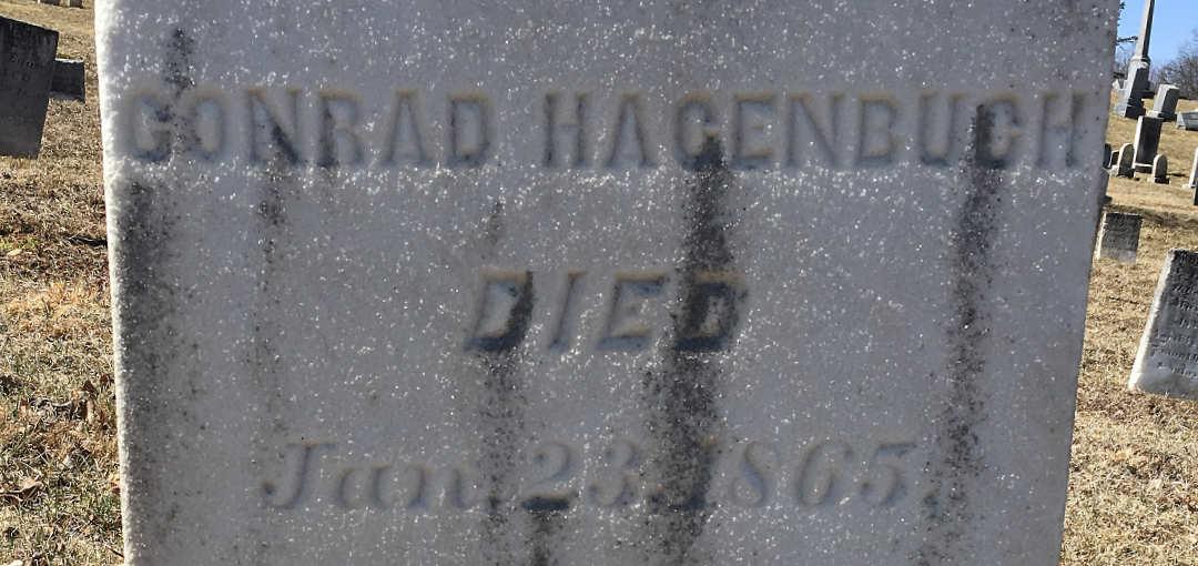 Conrad Hagenbuch Gravestone Detail
