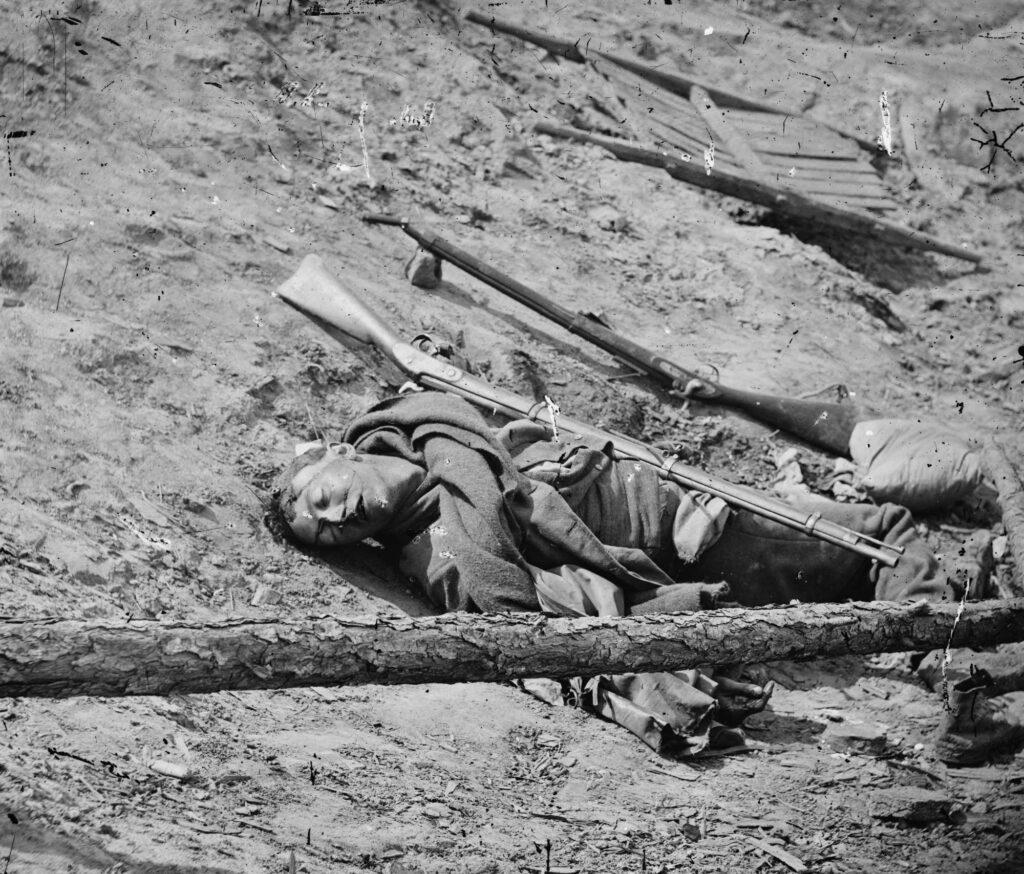 Dead Confederate Soldier Petersburg, VA April 3, 1865
